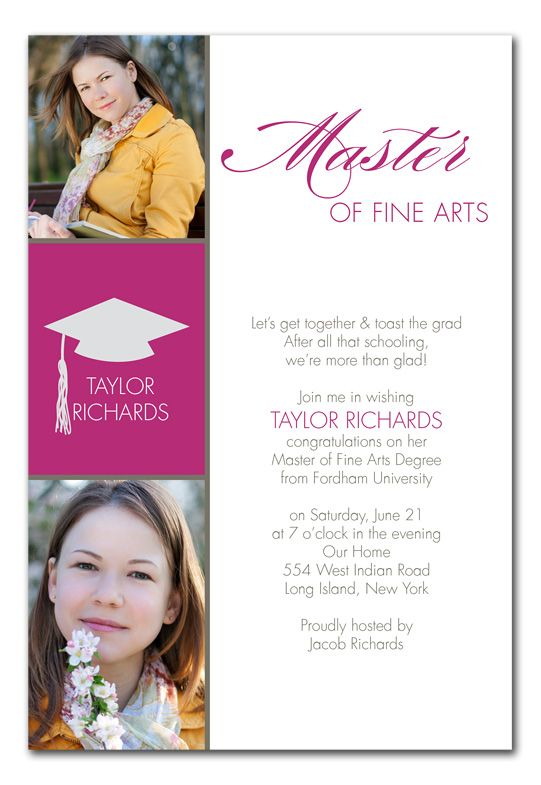 Masters Grad - Graduation Announcements Grad Pinterest Grad - master or masters degree on resume