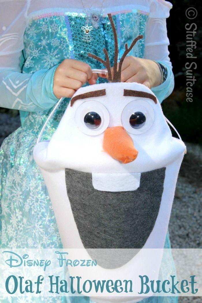 Disney Frozen Olaf Halloween Treat Bucket Olaf halloween, Frozen - frozen halloween decorations