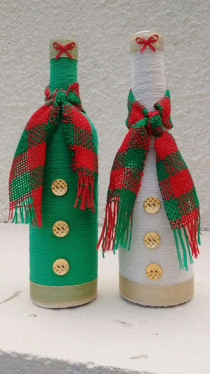 Pin de nurmy gaby rivera fuentes en botellas navidad for Adornos navidenos reciclados botellas