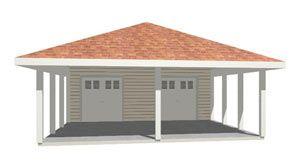 Car carport pattern 006g 0009 carport plans are shelters for Hip roof carport plans