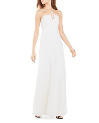 276798228dc BCBGMAXAZRIA Notched Strapless Gown