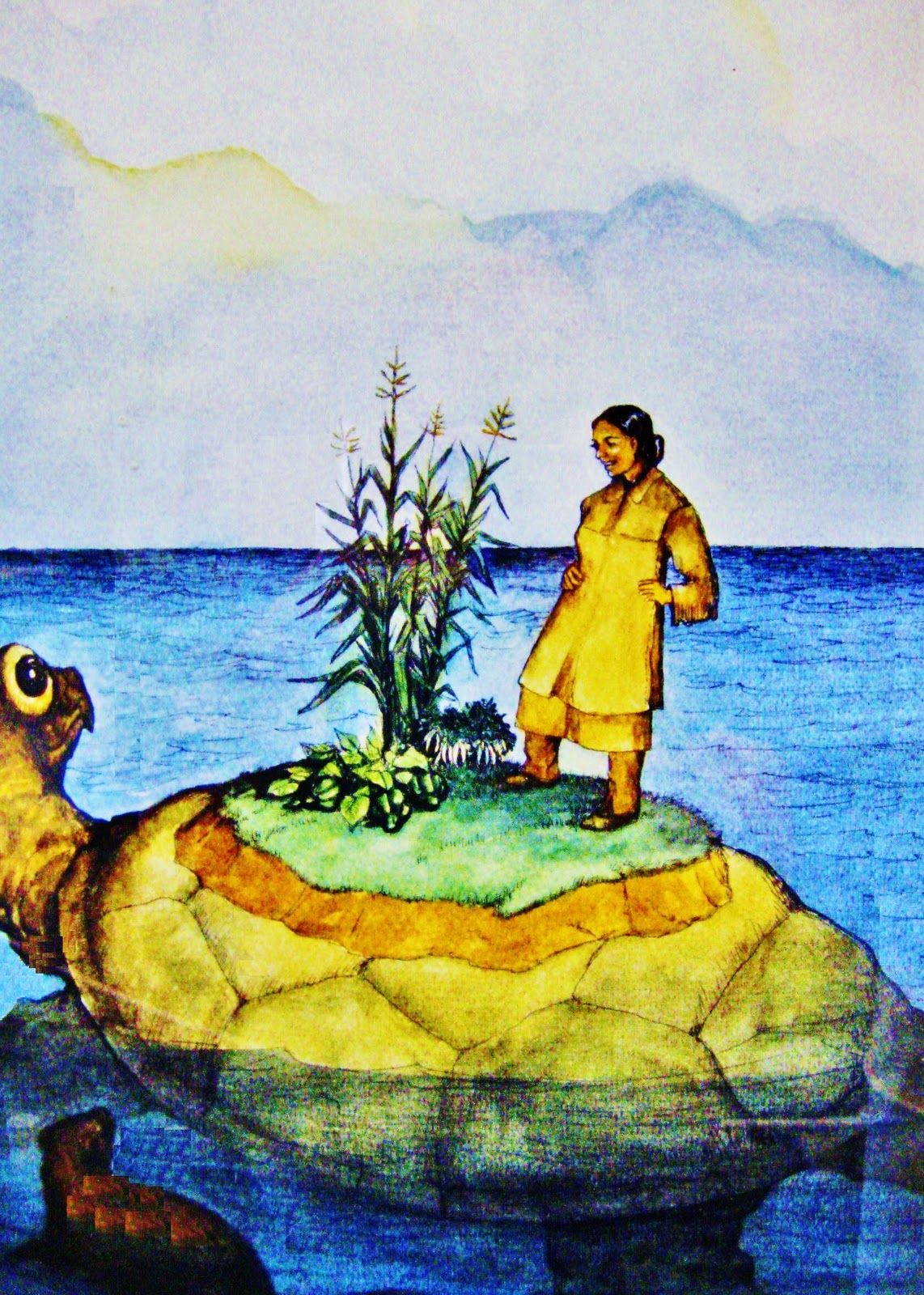 What is a summary of the Iroquois creation story?