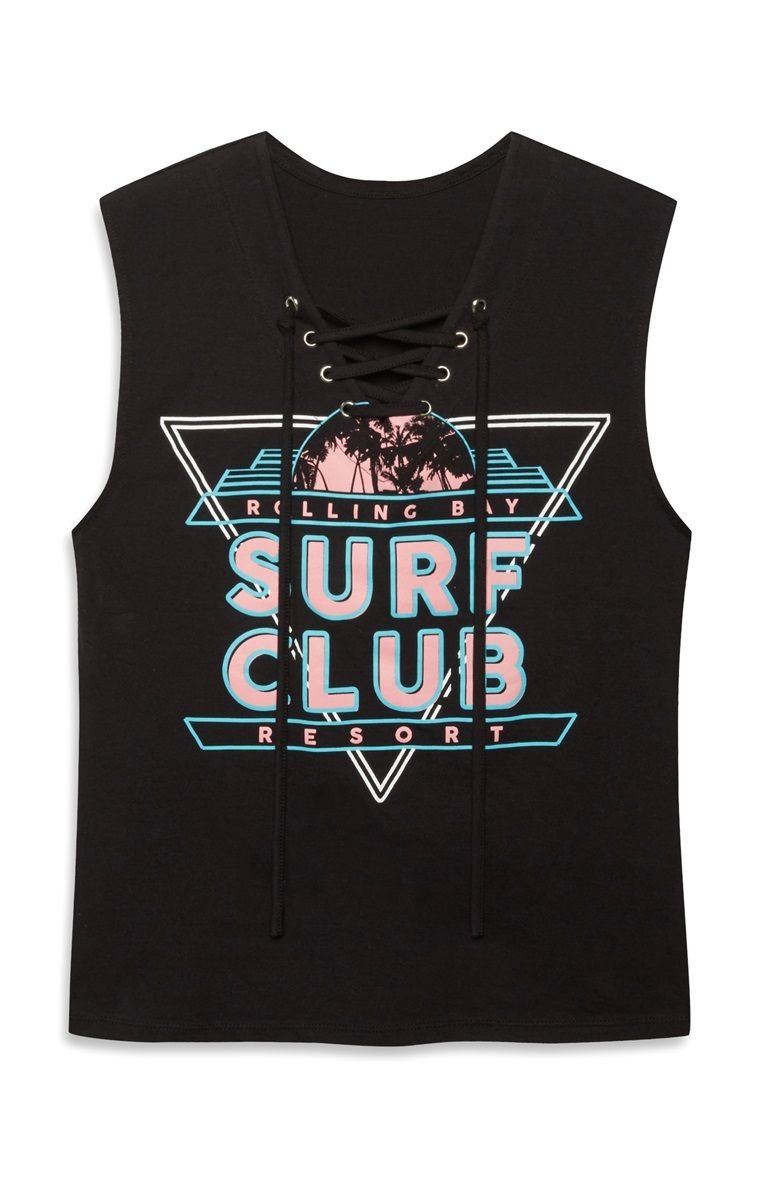 Surf club lace up vest top primark the mall luton primark