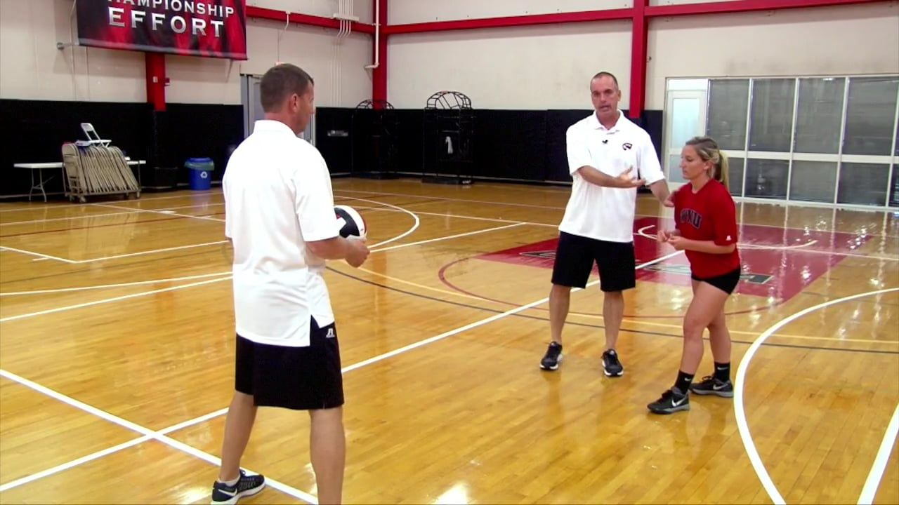 1 2 3 Passing Footwork Drill Travis Hudson Western Kentucky Univ Volleyball Training Coaching Volleyball Volleyball Drills
