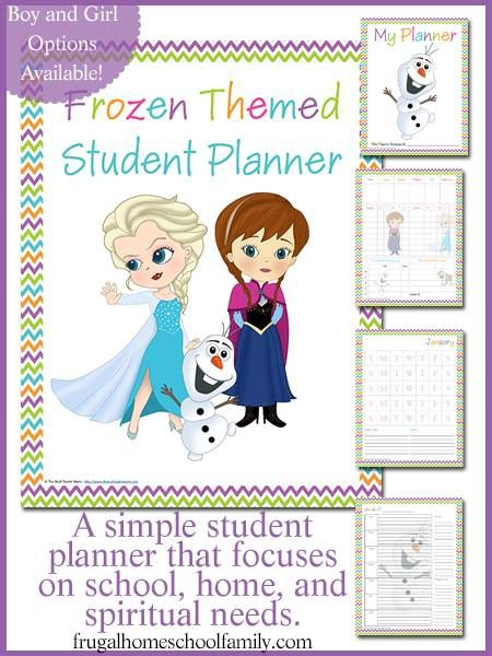 FREE Frozen-themed Student Planners {Boy and Girl versions} LAST CHANCE!  Ends