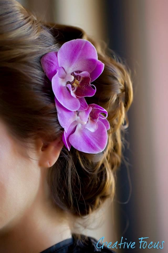 Event Design Planning And Production It S Your Party Events Orchid Hair Flowers Orchid Hair Piece Purple Orchid Wedding