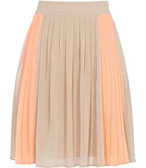 Style : Eleven Skirts That Will Make You Twirl  Womens Devon Nude Fully Pleated Skirt | REISS