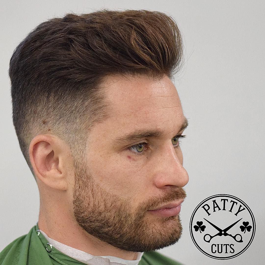 Classic Mens Hairstyles classic mens haircut slicked back taper fade mozambeak_and slicked back taper fade 100 New Mens Hairstyles For 2017