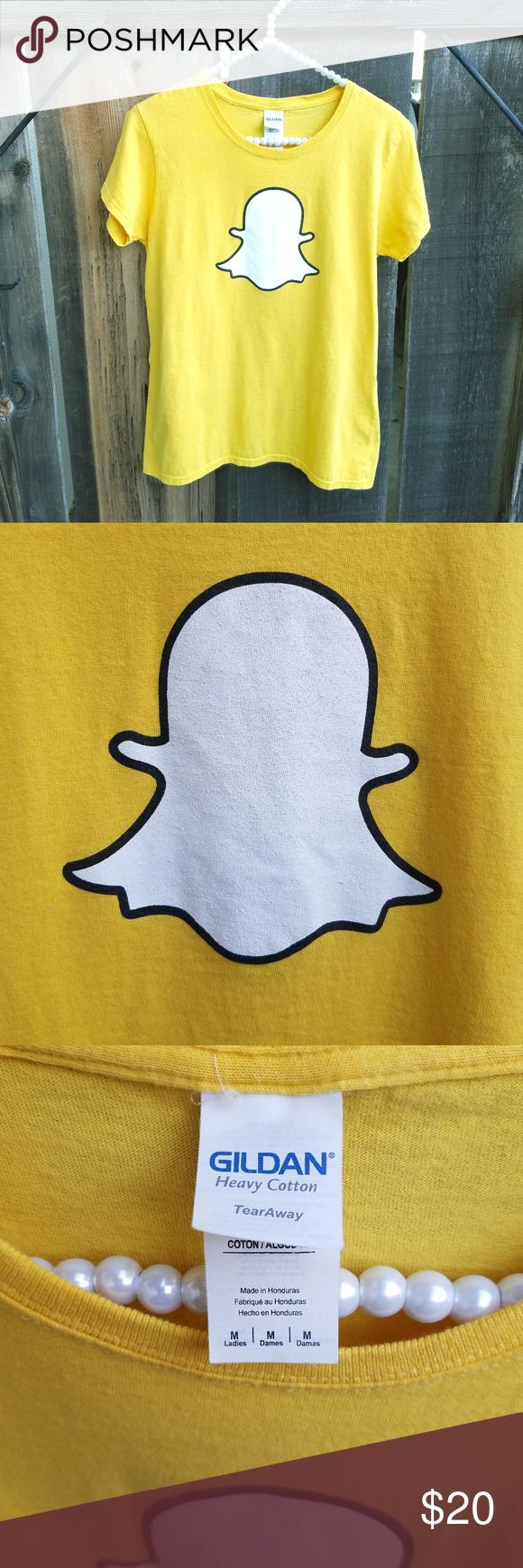 Snapchat Logo Tshirt Snapchat logo, Tshirt logo, Yellow