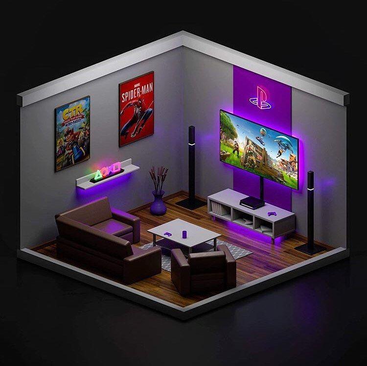 Ideas Geniales On Instagram: Isometric Gaming Rooom