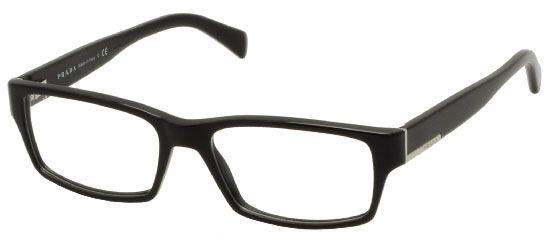 Prada PR06OV 1AB1O1 Eyeglasses in Shiny Black