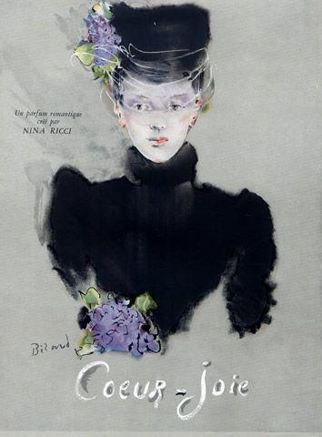 Nina Ricci (Perfumes) 1945 Coeur-Joie, Christian Bérard