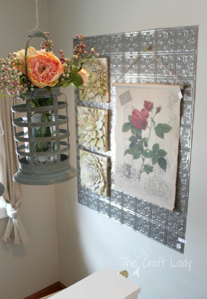 What a great idea! Hang tine ceiling tiles on the wall and swap out seasonal decor. A great alternative to a gallery wall. So much seasonal DIY decor ... & My Favorite Spring Decor Trends | Seasonal decor Ceiling tiles and ...