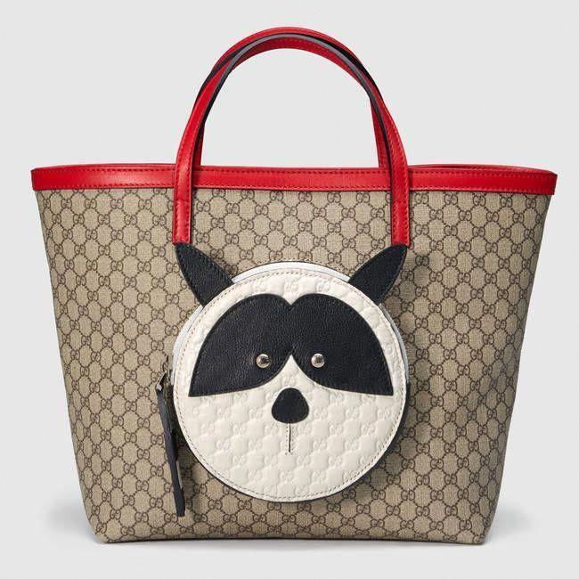 806e9f9f0f0 Gucci Children s GG Supreme raccoon  tote  Guccihandbags