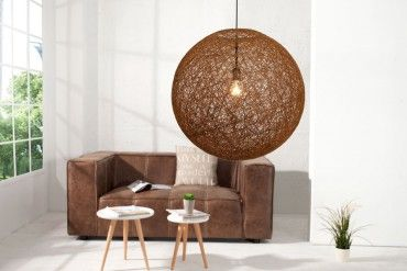 Stylische Hängeleuchte COCOON L In Natur Braun 45cm Lampe