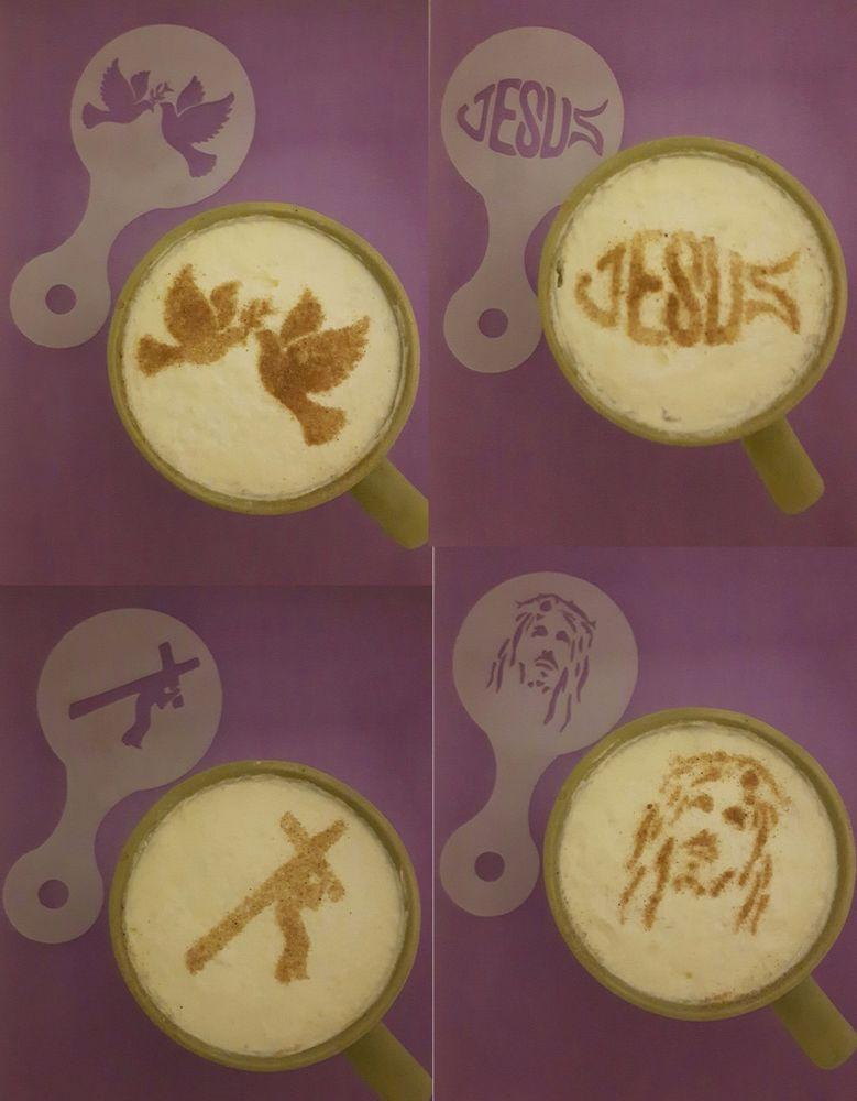 2 x cannabis leaf coffee cup//cappuccino stencils 2 different designs reusable many times cafe restaurant pub leaves hemp marijuana