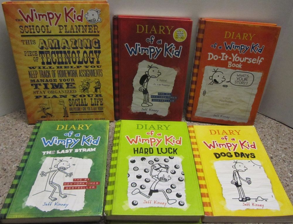 Lot of 6 diary of a wimpy kid chapter books jeff kinney 4 hc2 sc adults english illustrated mixed lot childrens young adults books ebay solutioingenieria Image collections