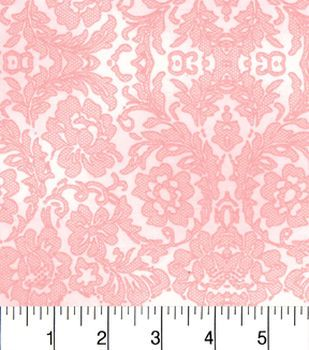 Two Daughters™ Cotton Fabric-Tonal Lace Pink