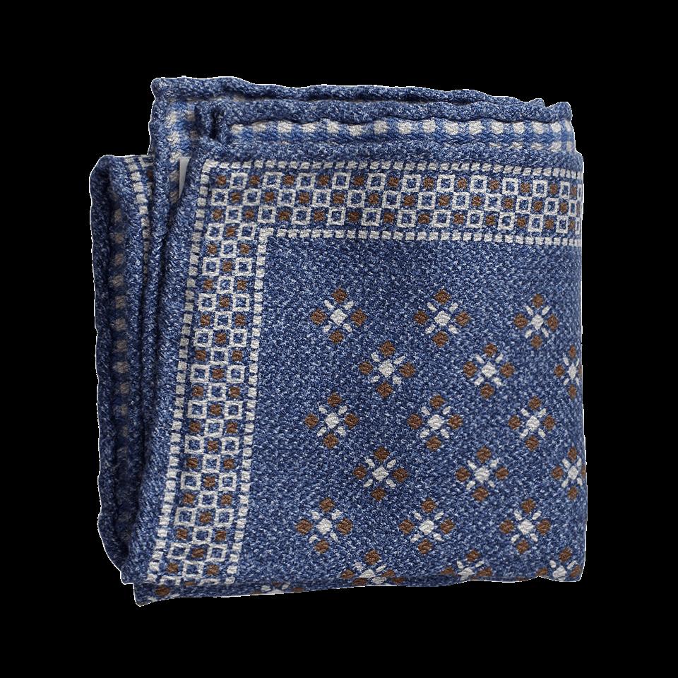 Mens Dot-Print Silk-Cotton Pocket Square Brunello Cucinelli YzwYGDa