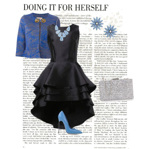 Graduation outfit ideas by dudundlovu on Polyvore featuring polyvore, fashion, style, Erika Cavallini Semi-Couture, Casadei, R.J. Graziano and Kendra Scott