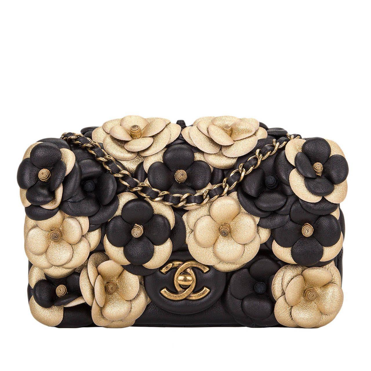 b2804d6a61bd Chanel Black Camellia Flap Bag
