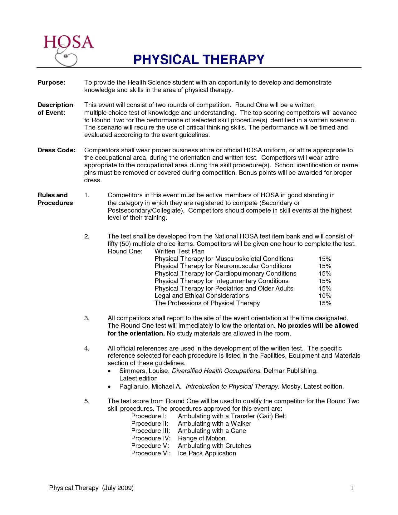 Resume Examples Physical Therapist Resume Examples Pinterest