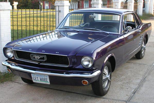 1966 Purple Mustang Dit Is Een Mooie