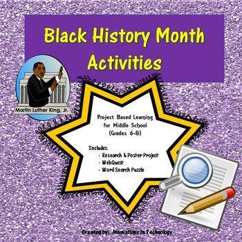 Black History Month Webquest (Internet Scavenger Hunt ...