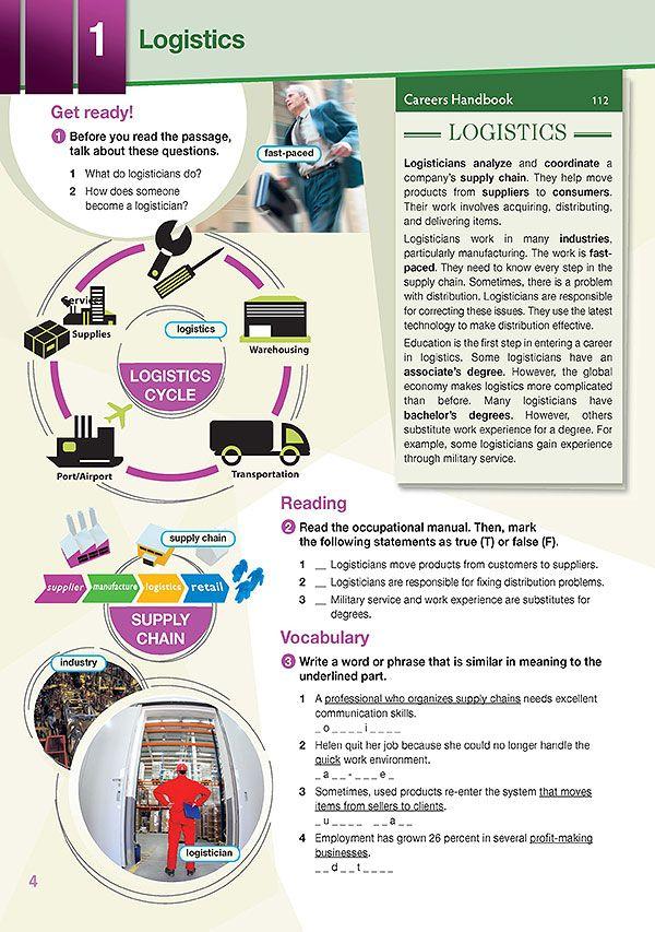 Sample Page 1 Career Paths Logistics Logistics Logistics Career Writing Exercises