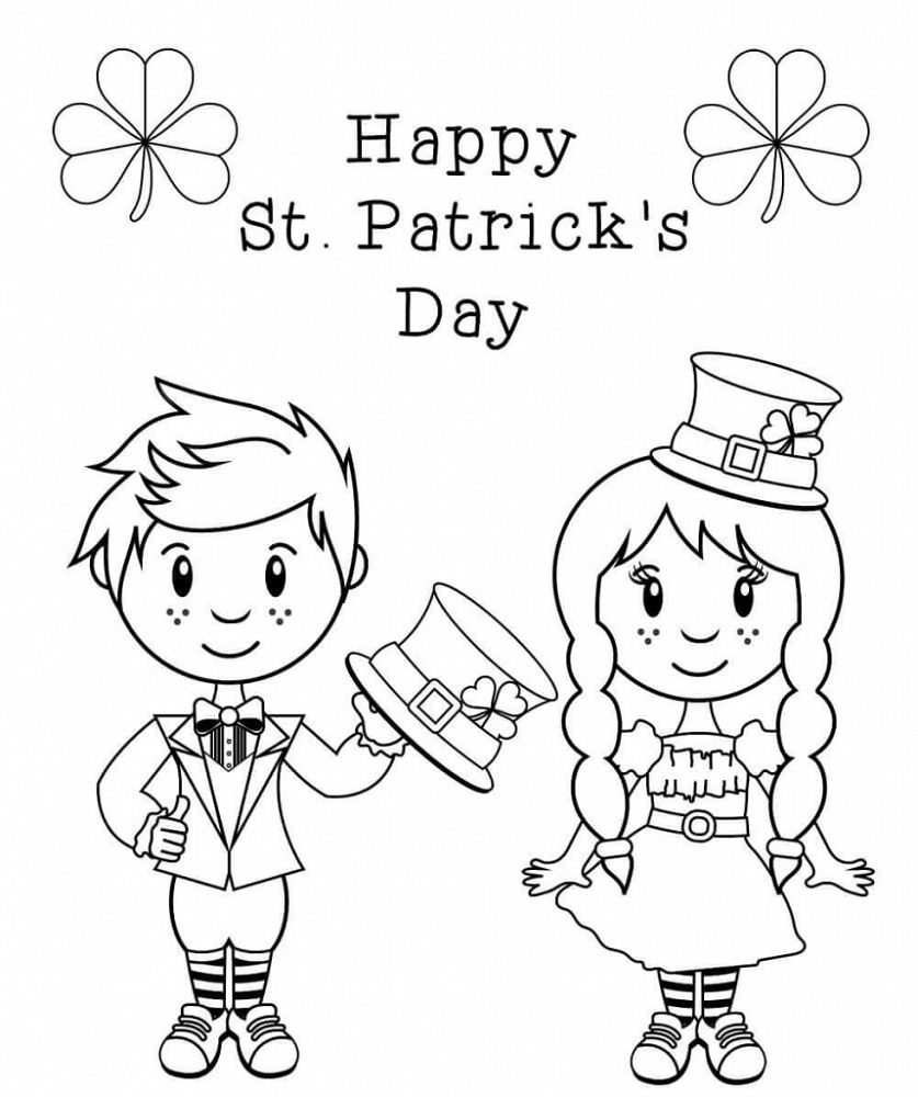 St Patrick's Day Coloring Pages in 2020 Free printable