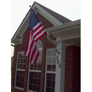 Valley Forge Flag 99060 Nylon American Flag Kit 2.5x4 Embroirdered Set