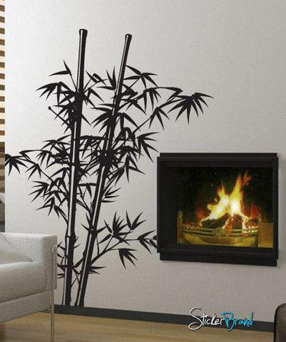 Giant sticker trompe l/'oeil flower bamboo 402