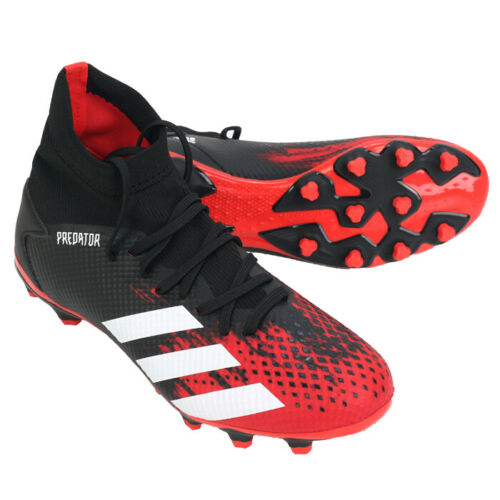 Adidas Predator 20 3 Mg Football Shoes Soccer Cleats Black Red Ef1999 In 2020 Football Shoes Soccer Cleats Adidas Predator
