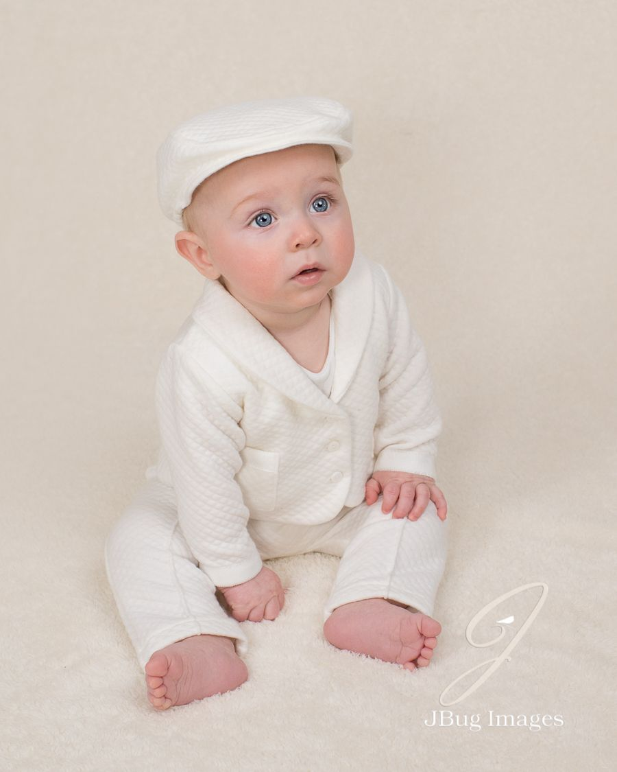 733f769d22b6d This portrait of a boy in his white christening outfit ❤ Elijah 3 ...
