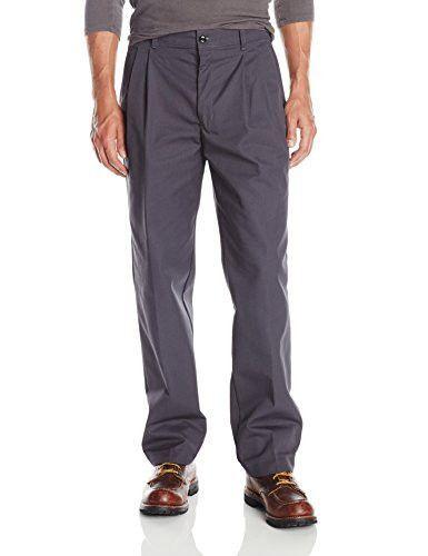 Red Kap Men's Grey Pleated Industrial Work Pants size 30x34
