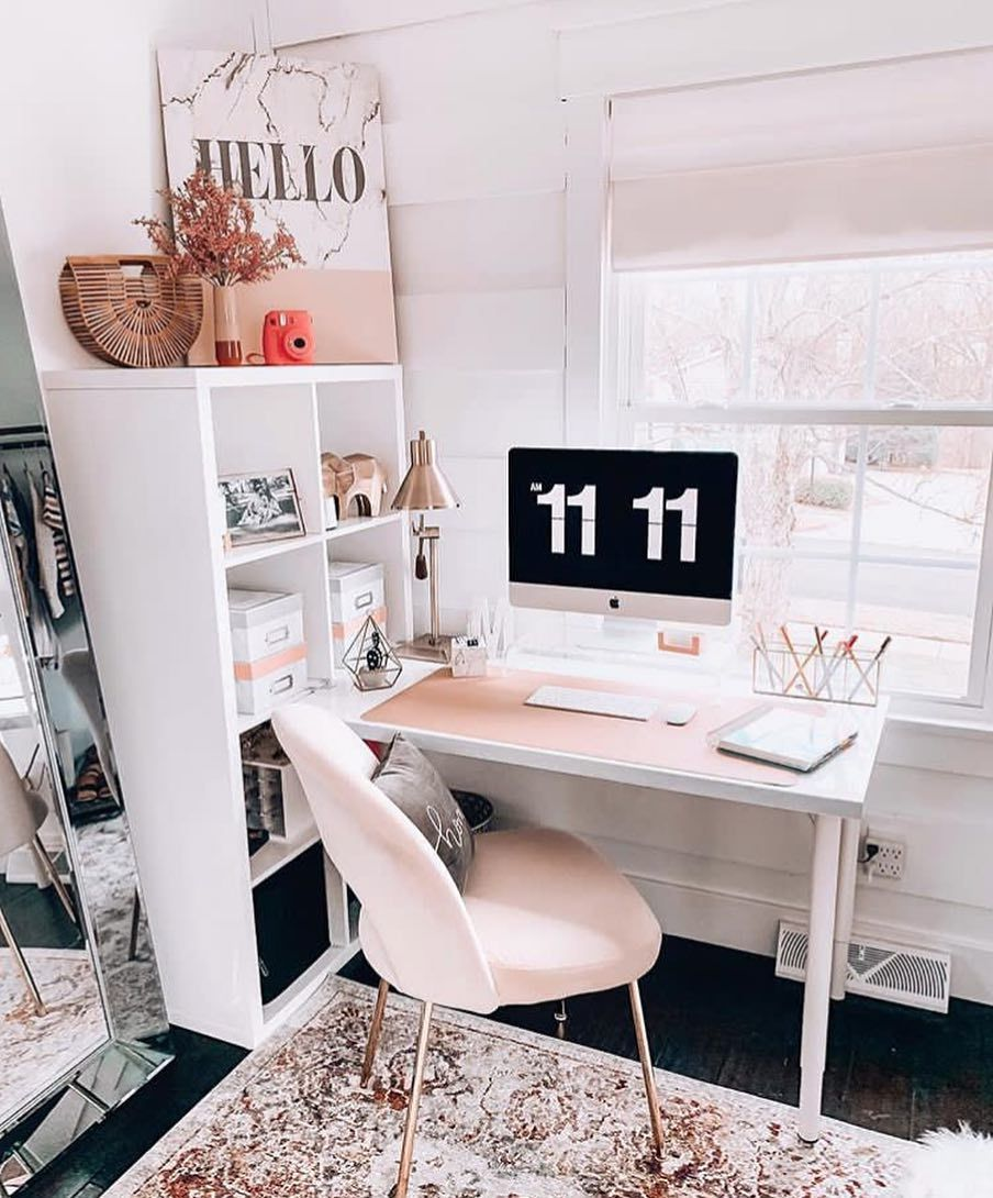"Photo of belle sale su Instagram: ""Office inspo ✨ | di @fashionablykay. #notmyphoto #modernhome #moderndesign #moderndesign #bathroom #bedroom # dreamhome … """