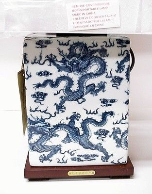 Blue Dragon Porcelain Table Lamp, Ralph Lauren Blue And White Dragon Lamp