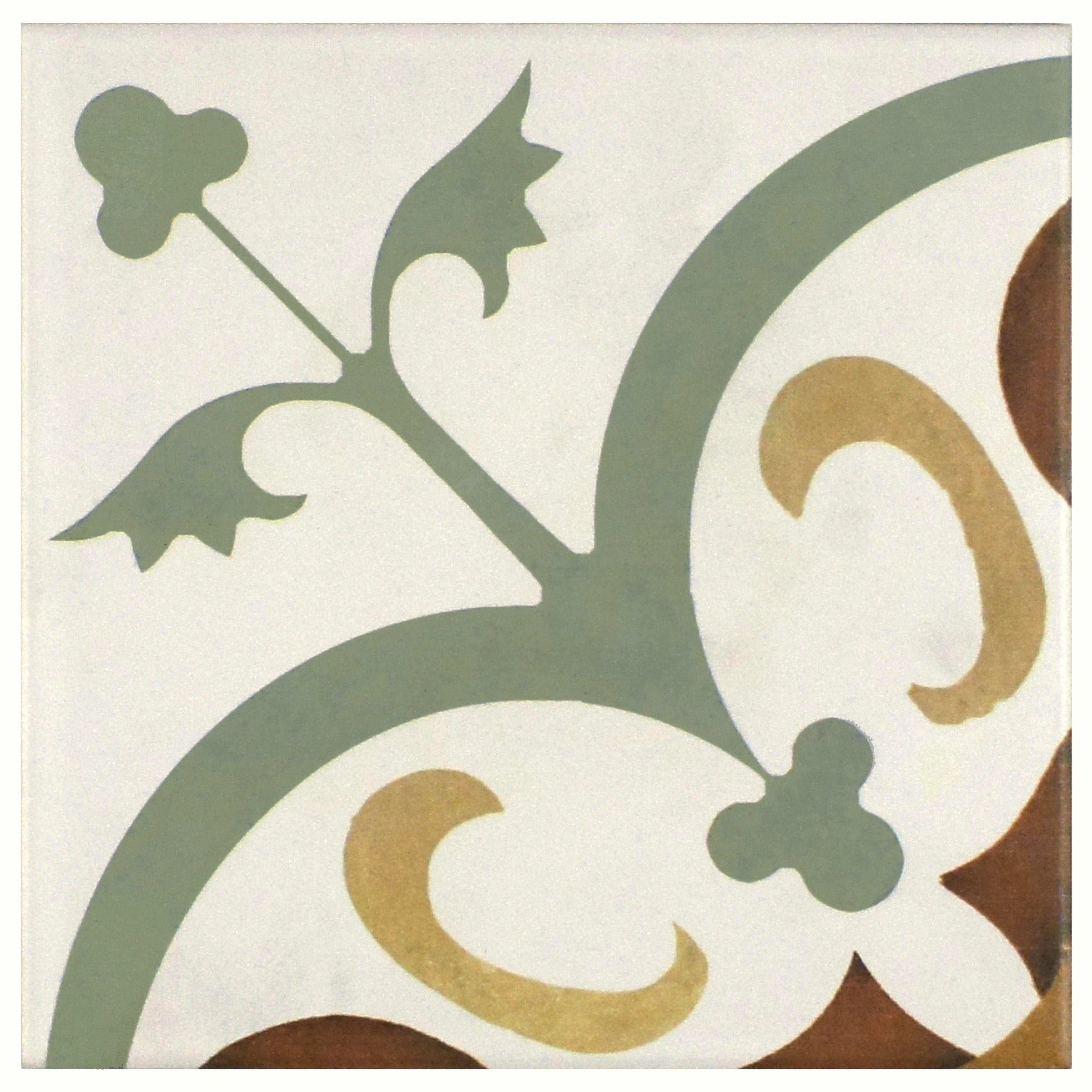Somertile 7 75x7 75 Inch Renaissance Memory Ceramic Floor And Wall Tile 25 Tiles 11 Sqft Ceramic Floor Merola Tile Painting Tile