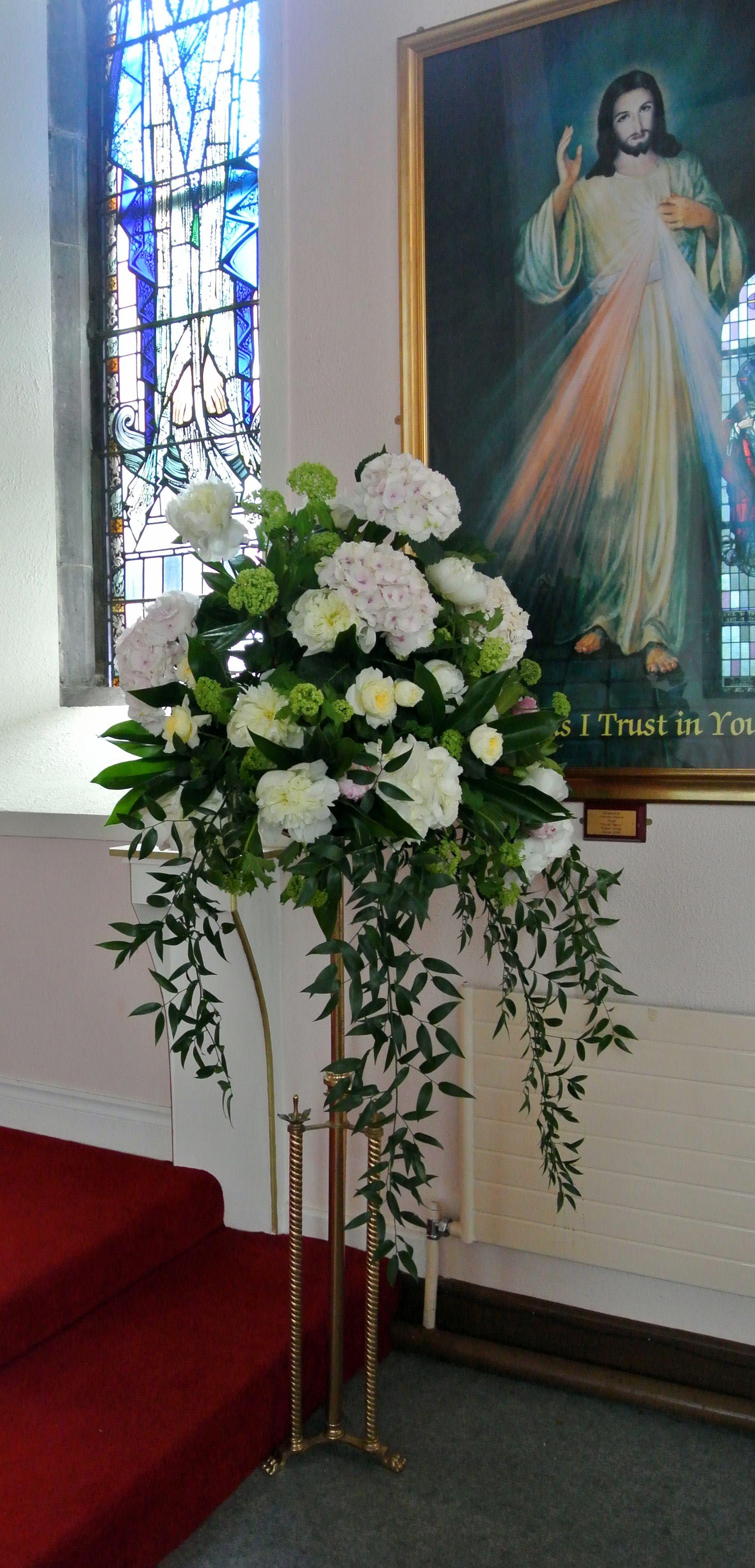 church wedding flowers pedestal Google Search Church