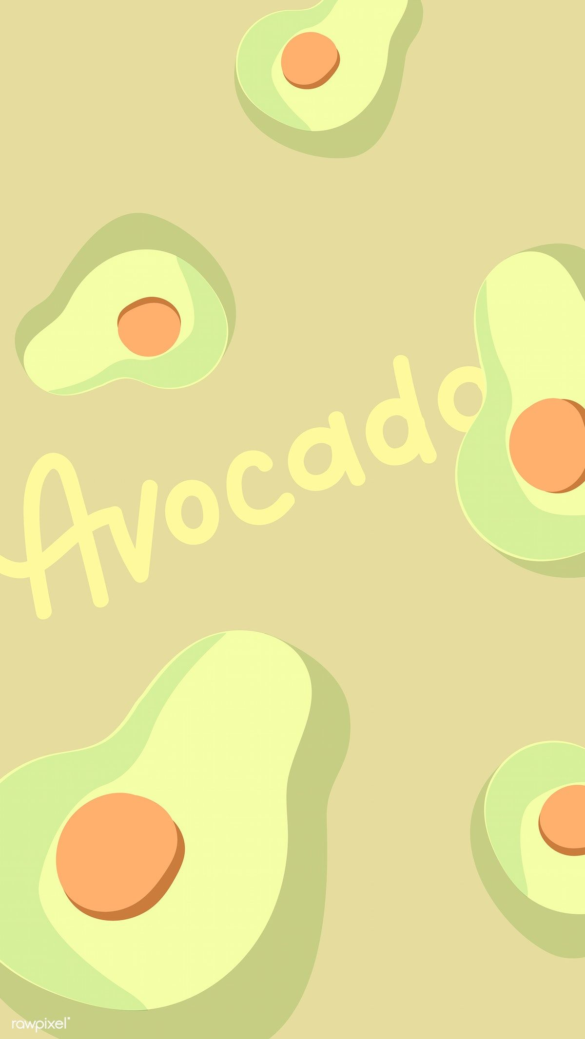 half avocados background vector free image by rawpixel