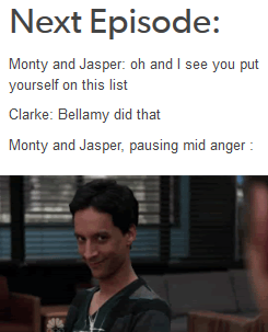 Bellarke, Bellamy, Clarke, the 100, tumblr, funny | The ...