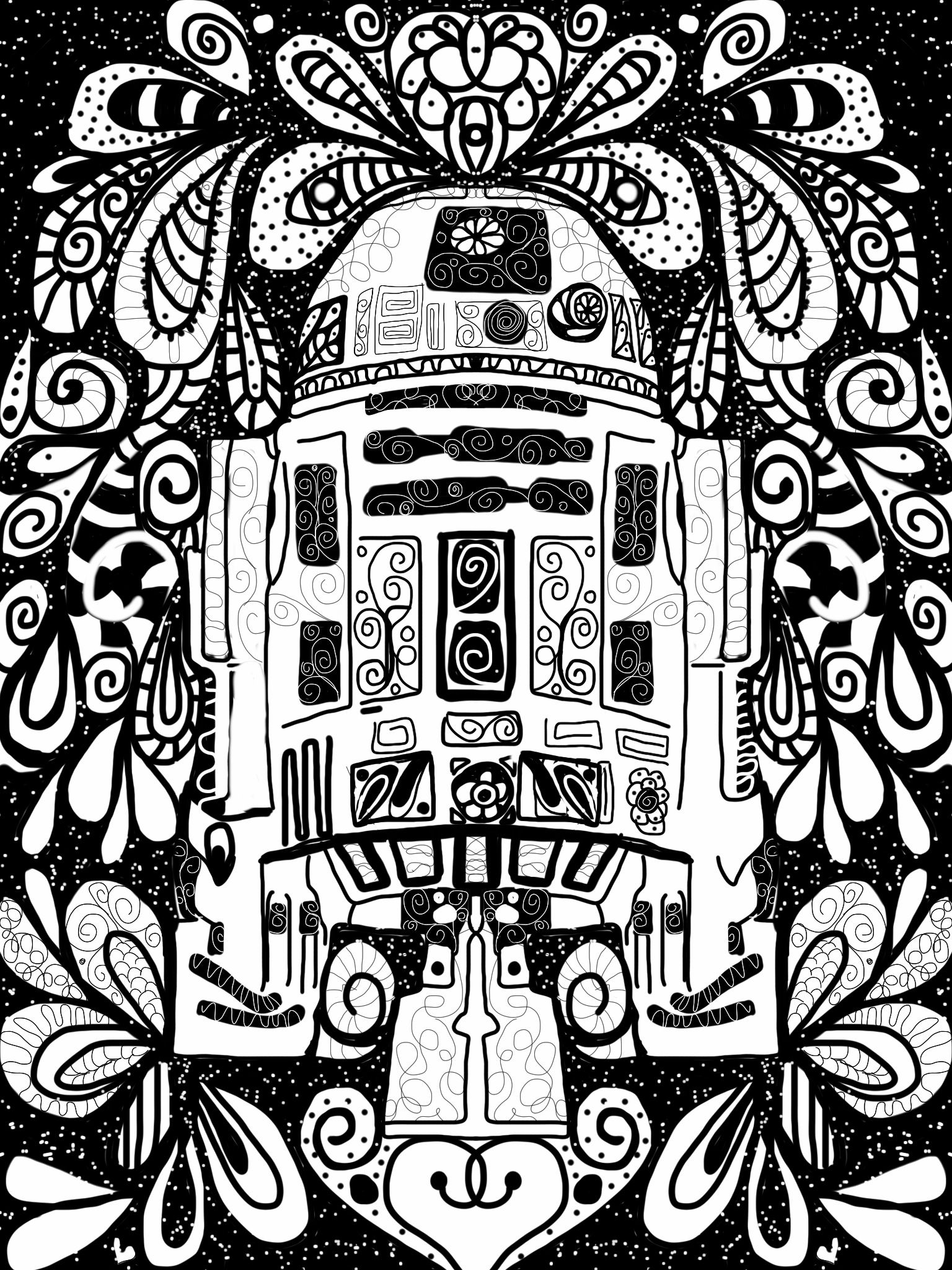R2D2 I love drawing on the iPad and will be showing this work next ...