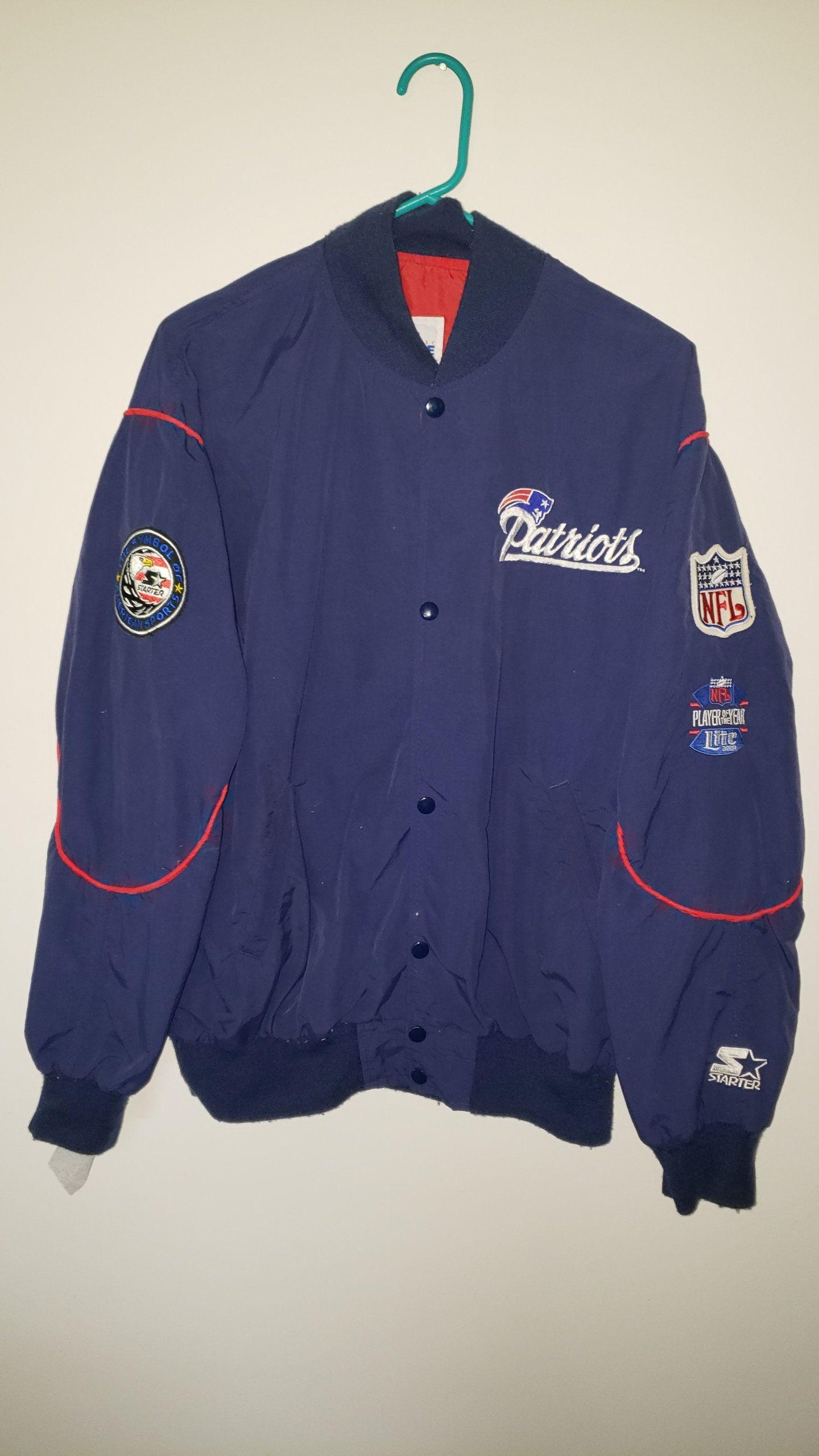 Vintage 90 s Starter NFL New England Patriots Bomber Jacket Windbreaker -  Size Adult XL Spring Winter Cold Weather Gear Trendy Football by  RackRaidersVtg on ... 317e839422