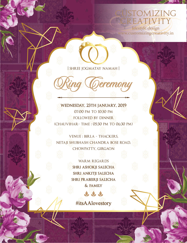 Ornate Scroll Wedding E Card Edit Online And Send Via Email Diy Wedding Invitations Templates Email Wedding Invitations Indian Wedding Invitation Cards