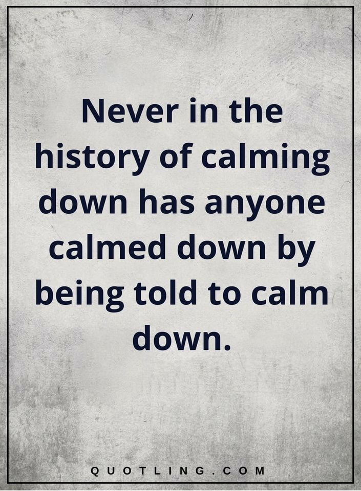 Funny Quotes Never In The History Of Calming Down Has Anyone Calmed