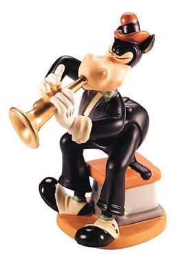 WDCC Disney Classics Symphony Hour Horace Horsecollar Horace's High Notes #WDCCDisneyClassics #Art . Trumpet: Plated with 24 karat gold. Anniversary Backstamp: A special gold script message '50th Anniversary' was added to backstamp of sculptures crafted in 1992. Retired 09/97.