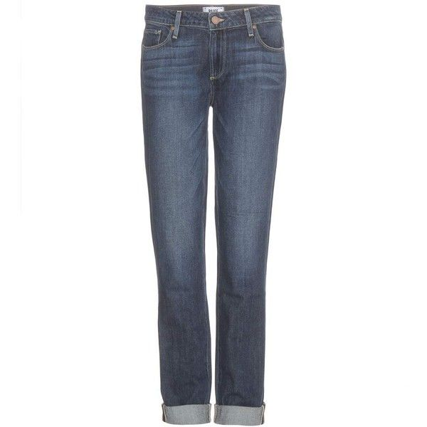 Paige Jimmy Jimmy Skinny Boyfriend Jeans ($165) ❤ liked on Polyvore featuring jeans, blue, paige denim jeans, super skinny jeans, paige denim, skinny jeans and white super skinny jeans