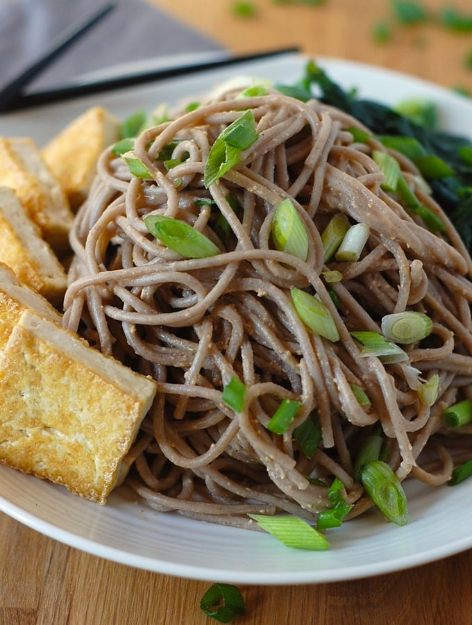Soba Noodles with Tofu and Spicy Sesame Sauce (Vegan & Gluten-Free) – Turnip the Oven
