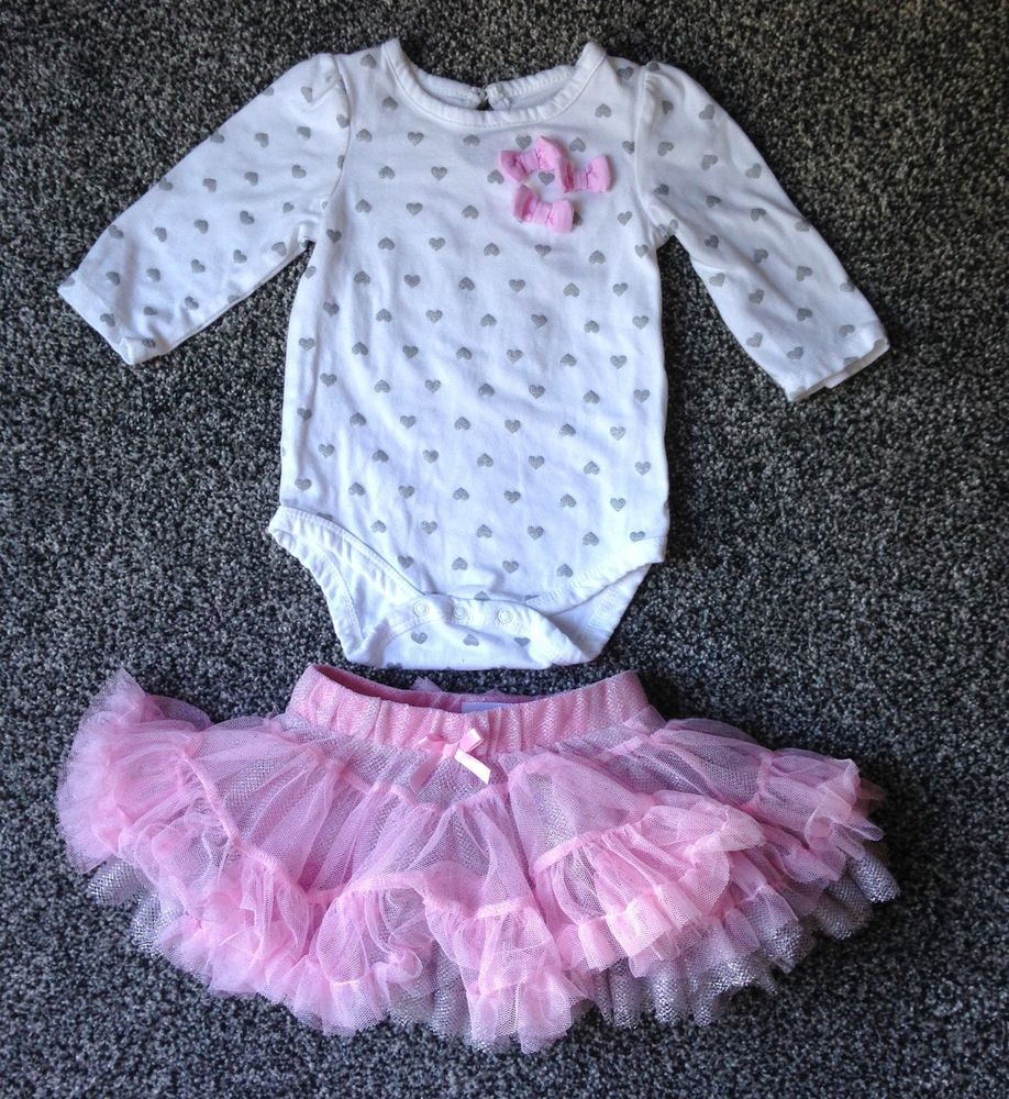 bc024b1b9 0-3 MONTH INFANT BABY GIRL 2 PIECE OUTFIT Long-Sleeve Top Ruffle Skirt  Hearts #Gymboree #ChurchEasterCasualFormalParty