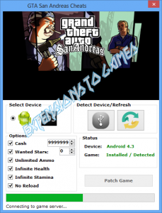GTA San Andreas Cheats  http://extensionstogames.com/index.php/gta-san-andreas-cheat/